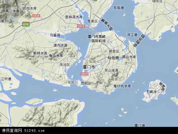 厦门市地图 - 厦门市卫星地图 - 厦门市高清航拍地图 ...