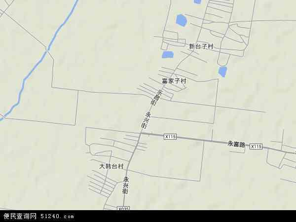 中国辽宁省沈阳市苏家屯区永乐地图(卫星地图)