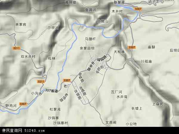 中国贵州省毕节市纳雍县雍熙地图(卫星地图)
