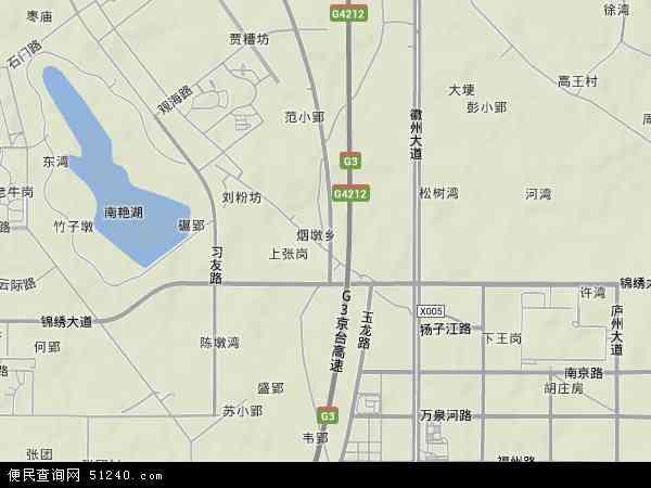 中国安徽省合肥市包河区烟墩地图(卫星地图)