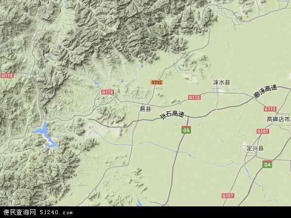 中国河北省保定市易县地图(卫星地图)