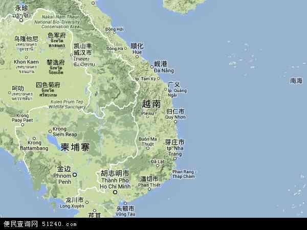 越南地图(卫星地图)