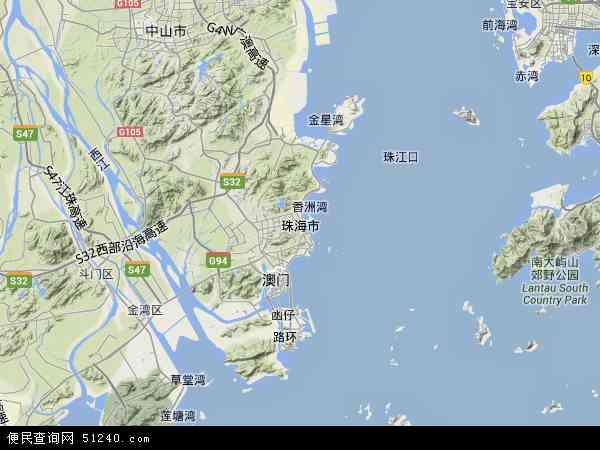 珠海市地图 - 珠海市卫星地图