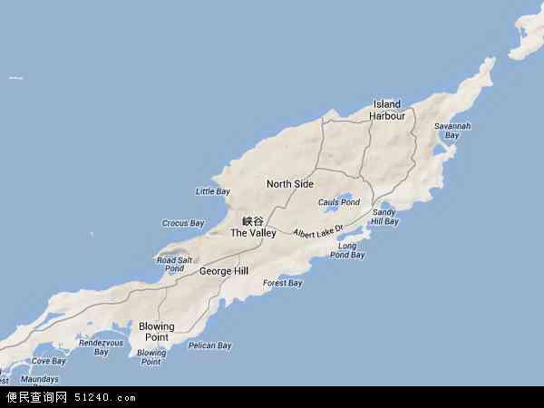 安圭拉地形图 - 安圭拉地形图高清版 - 2016年安圭拉地形图