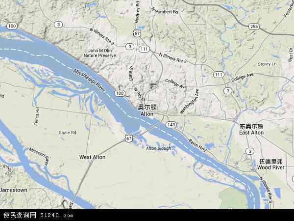 奥尔顿地图 - 奥尔顿卫星地图