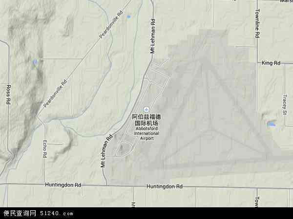 加拿大阿伯茨福地图(卫星地图)