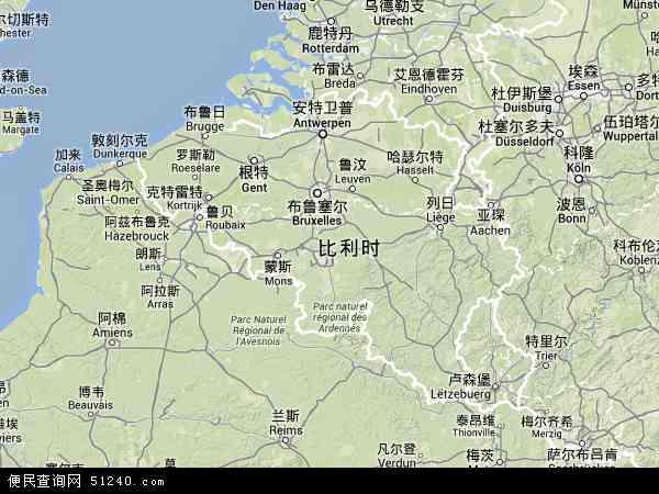 比利时地图 - 比利时卫星地图 - 比利时高清航拍地图