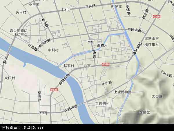 中国浙江省绍兴市上虞市百官地图(卫星地图)