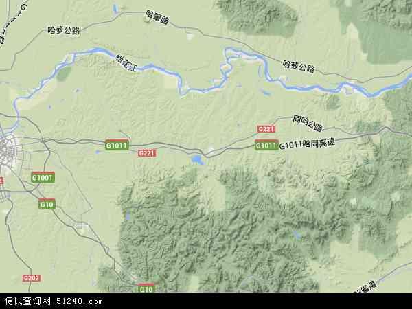 中国黑龙江省哈尔滨市宾县地图(卫星地图)