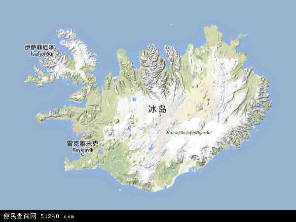 博茨瓦纳地图_冰岛地图 - 冰岛卫星地图 - 冰岛高清航拍地图