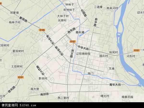 白塔区地图 - 白塔区卫星地图
