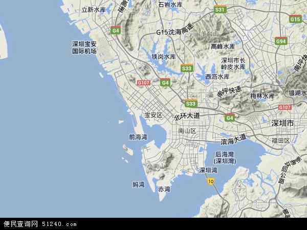 深圳宝安沙井地图_宝安区地图 - 宝安区卫星地图 - 宝安区高清航拍地图