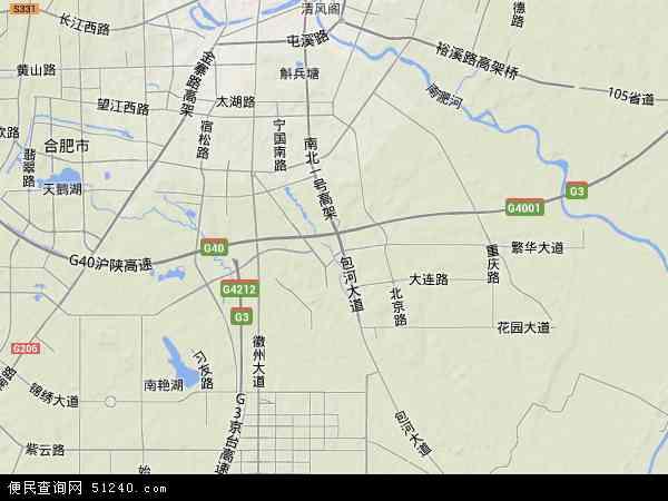 中国安徽省合肥市包河区地图(卫星地图)