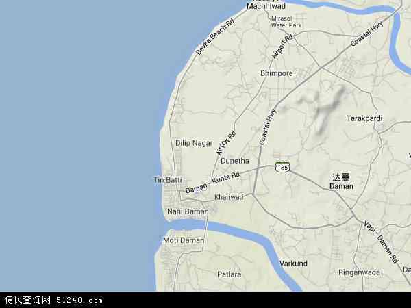 印度 第乌  第乌地形地图 第乌地形图,2016第乌高清地形图,第乌地形图