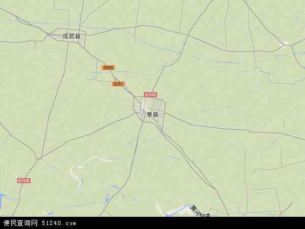 中国山东省菏泽市单县地图(卫星地图)