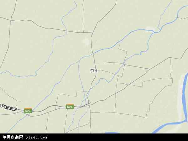 中国河南省濮阳市范县地图(卫星地图)