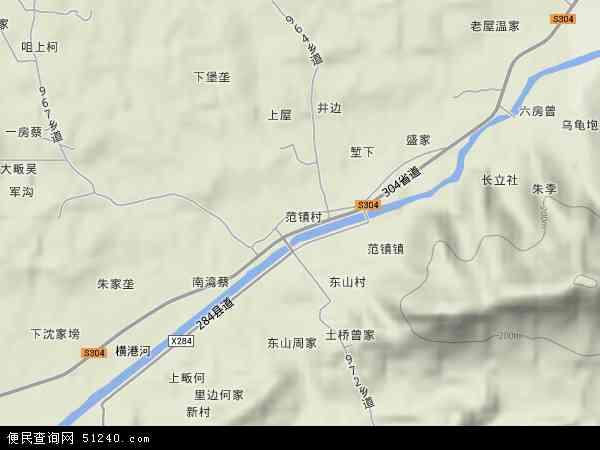 中国江西省九江市瑞昌市范镇地图(卫星地图)