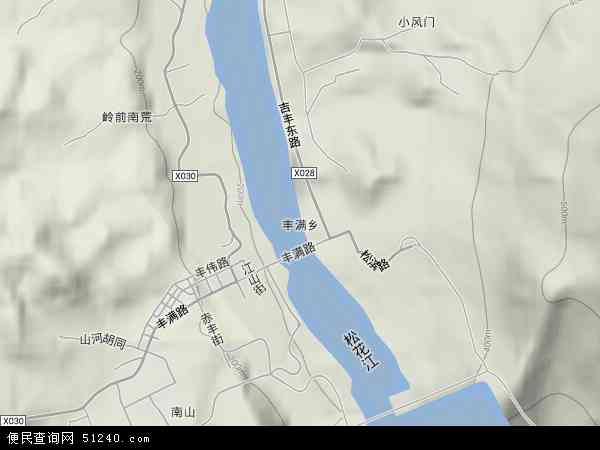 中国吉林省吉林市丰满区丰满地图(卫星地图)