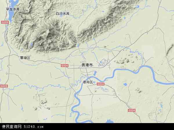 广西贵港地图