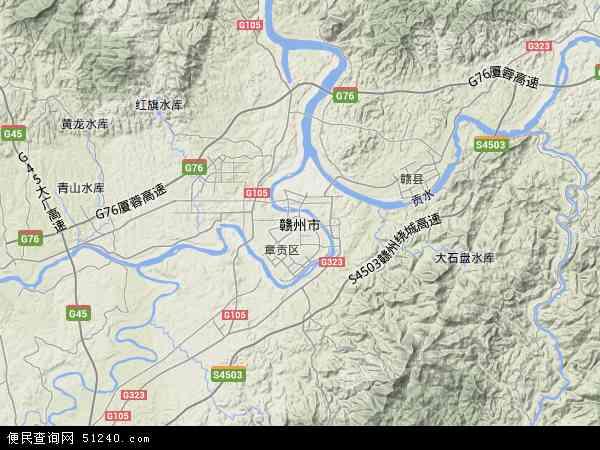 赣州市地图 赣州市卫星地图 赣州市高清航拍地图 赣州市高清卫星地图 图片