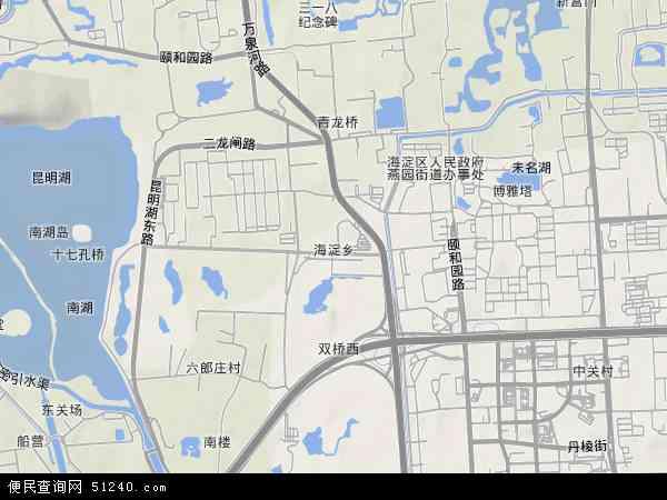 中国北京市海淀区海淀地图(卫星地图)