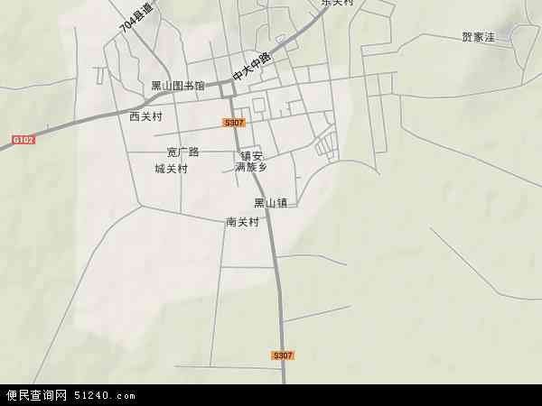 中国辽宁省锦州市黑山县黑山地图(卫星地图)