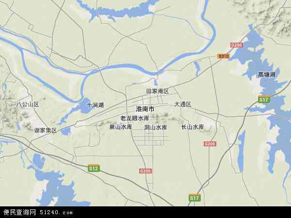 安徽六安卫星地图_淮南市地图 - 淮南市卫星地图 - 淮南市高清航拍地图