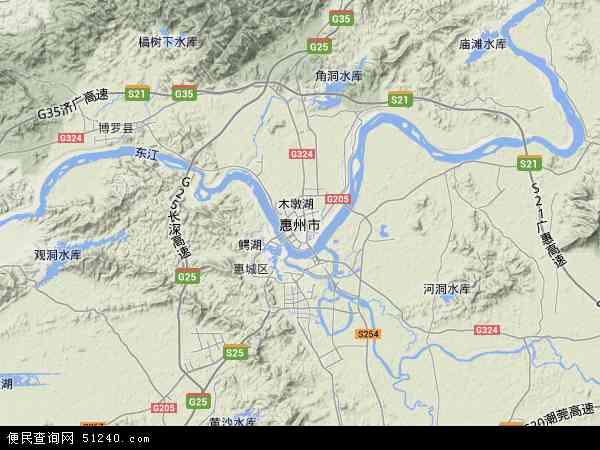 惠州市地图 - 惠州市卫星地图 - 惠州市高清航拍地图