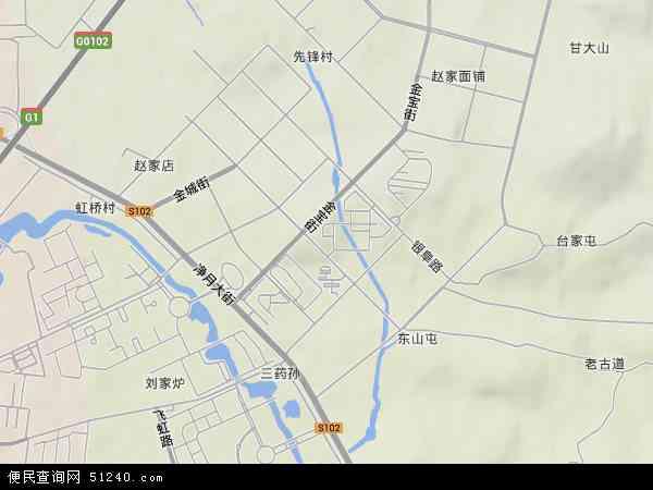 中国吉林省长春市南关区净月地图(卫星地图)图片