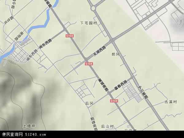 中国福建省宁德市蕉城区蕉南地图(卫星地图)