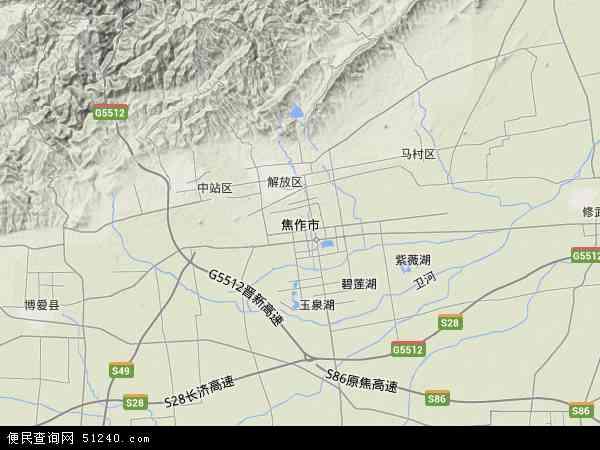 2015焦作市卫星地图,焦作市北斗卫星地图2016