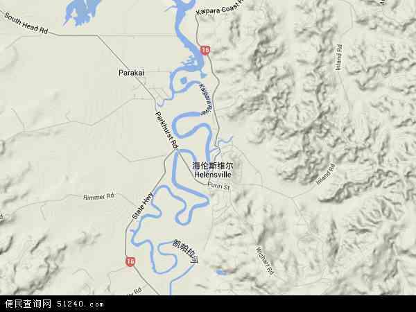 新西兰凯帕拉地图(卫星地图)