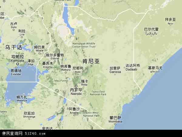 肯尼亚地形图 - 肯尼亚地形图高清版 - 2016年肯尼亚地形图