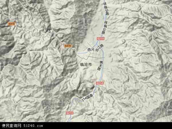 中国云南省临沧市地图(卫星地图)