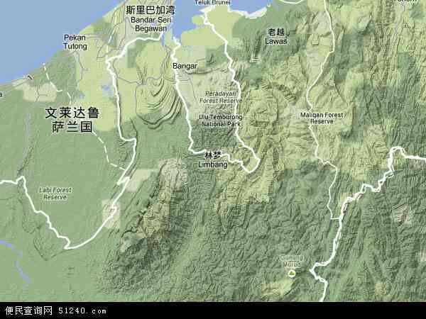 马来西亚沙捞越林梦地图(卫星地图)