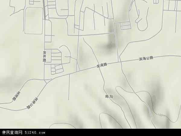 中国辽宁省葫芦岛市龙港区龙湾地图(卫星地图)