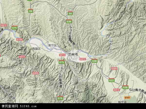 兰州市地图 - 兰州市卫星地图 - 兰州市高清航拍图片