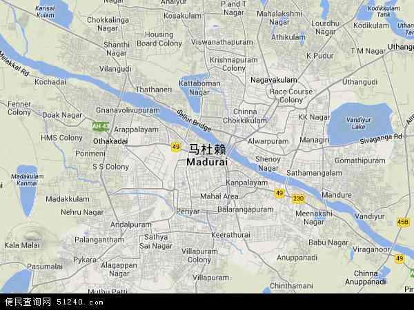 印度马杜赖地图(卫星地图)