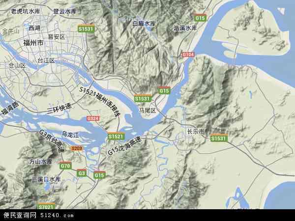 马尾区地图 - 马尾区卫星地图