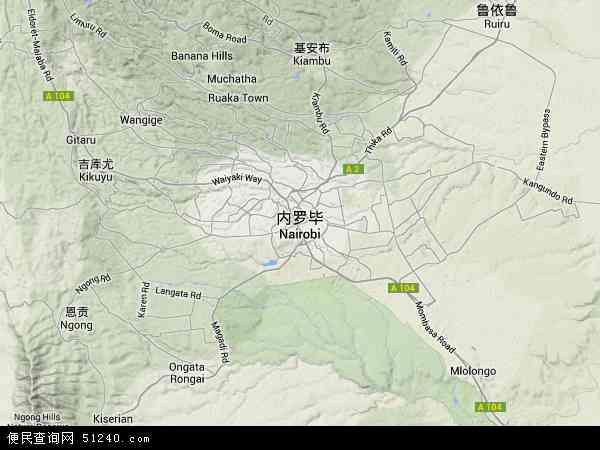 肯尼亚内罗毕地图(卫星地图)