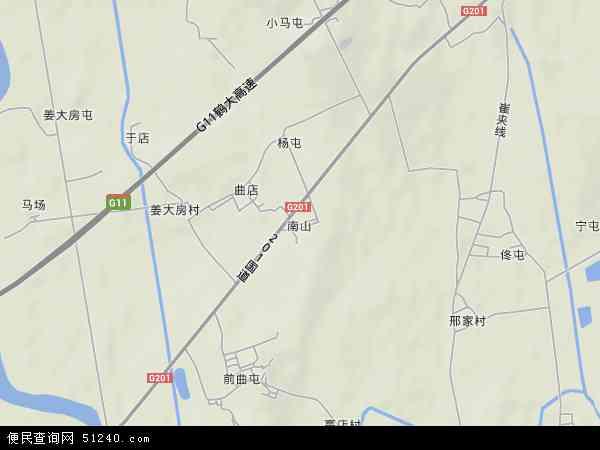 中国辽宁省大连市普兰店市南山地图(卫星地图)