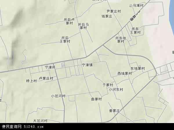 中国山东省威海市荣成市宁津地图(卫星地图)