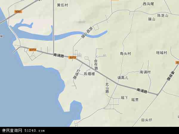中国广东省湛江市坡头区南调地图(卫星地图)