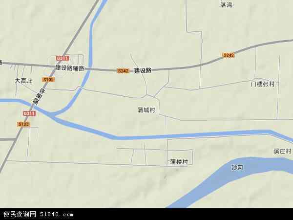 蒲城地图 - 蒲城卫星地图