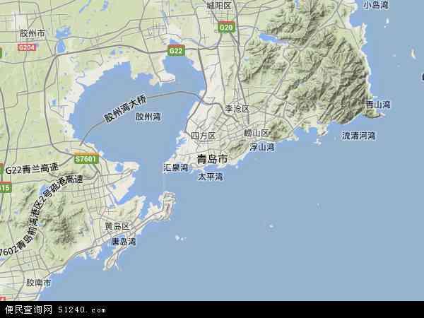 青岛市地图 青岛市卫星地图 青岛市高清航拍地图 青岛市高清卫星地图