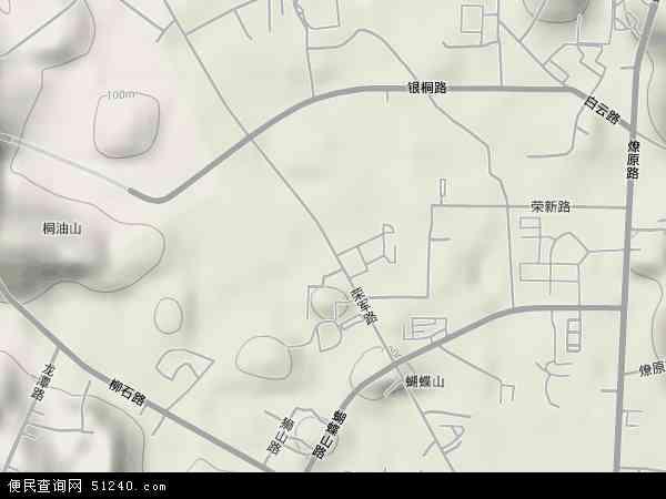 中国广西壮族自治区柳州市鱼峰区荣军地图(卫星地图)