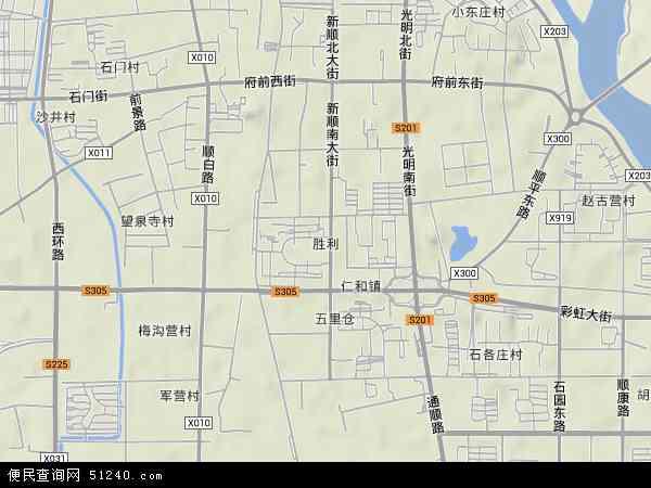 中国北京市顺义区胜利地图(卫星地图)