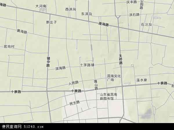 中国山东省临沂市莒南县十字路地图(卫星地图)