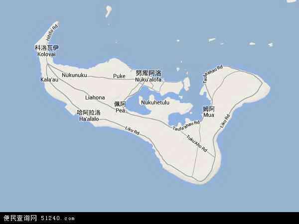 汤加地图 - 汤加卫星地图