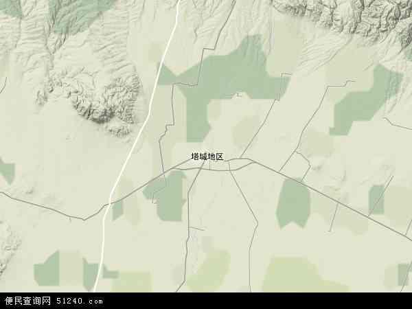 塔城市地图 - 塔城市卫星地图